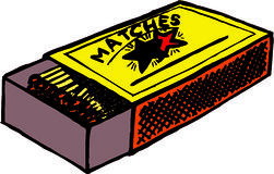 Matches. Illustration of a box of matches Stock Image