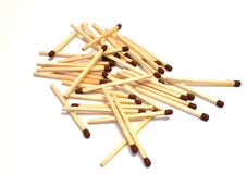 Matches. A collection of matches to enlight stock photo
