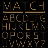 Matches Alphabet Stock Image