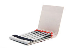 Matches And Matchbox Stock Photography