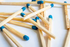 Matches with a blue head. Lots of fire Matches with a blue head Stock Photography