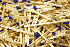Matches with blue heads Stock Image