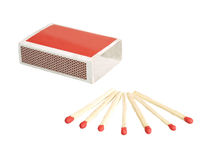 Matches with box. Some matches with red matches-box Stock Images