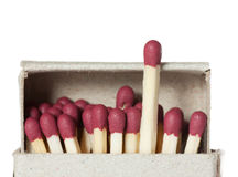 Matches in a box. Illustrating concept of leadership Royalty Free Stock Image