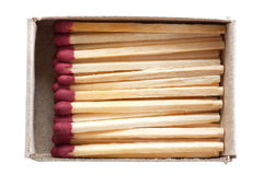 Matches in a box Stock Images