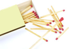 Matches in box Stock Images