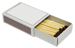 Matches box. Isolated on white background Stock Photos