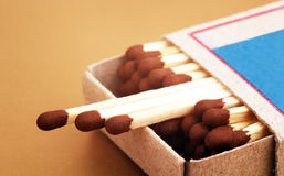 Matches in a box. Royalty Free Stock Photo