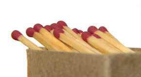 Matches in box Royalty Free Stock Images