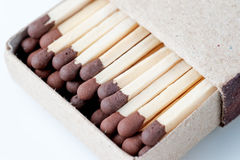 Matches in a box close up Royalty Free Stock Photography