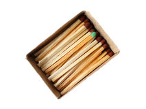 Matches in a box. Fire material wooden ignition sulfur flame Stock Photo