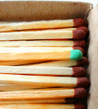 Matches in a box. Fire material wooden ignition sulfur flame Stock Photos