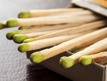 Matches. In the box,for fire,smoking, ignition themes Royalty Free Stock Photos