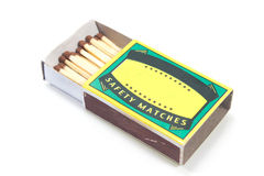 Matches box. Isolated on white Stock Image