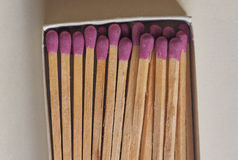 Matches in a box. Box of matches in a match box Stock Photo