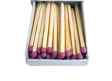 Matches in box Stock Photos
