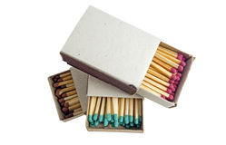 Matches in box Royalty Free Stock Photos