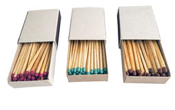 Matches in box Stock Photo