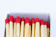 Matches in box  on white background Stock Image