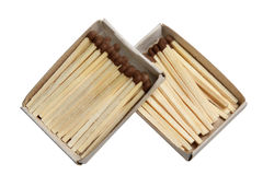 Matches in a box on a white background Stock Image
