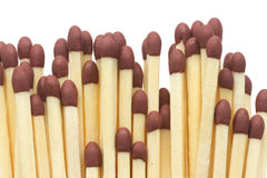 Matches. Bunch matches isolated on white background Royalty Free Stock Image