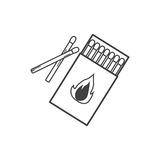 Matches , burned match icon Royalty Free Stock Photo