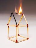 Matches burning Stock Photo