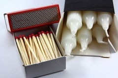 Matches and Candles Stock Photos