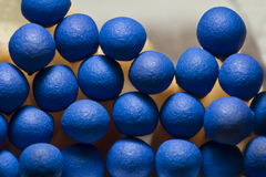 Macro of blue matchsticks Royalty Free Stock Photo