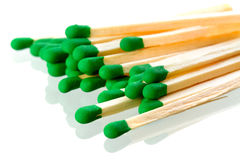Matches close up over white Stock Image