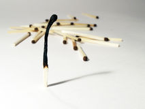 Matches composition Stock Image