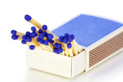 Matches with dark blue heads Royalty Free Stock Photo