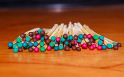 Matches with different head color Stock Photography