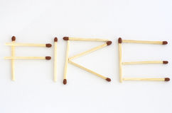 Matches Fire Royalty Free Stock Photos