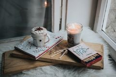 Matches, Fire, Candle, Light, Cup Royalty Free Stock Image