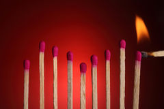 Matches form a graph Stock Images