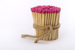 Matches gathered into a tight bundle Royalty Free Stock Photos