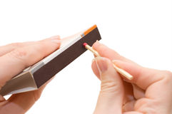 Matches in a hand Royalty Free Stock Image