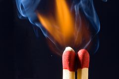 Matches igniting Royalty Free Stock Image