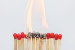 Matches ignition closeup Stock Photo