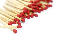 Matches isolated Royalty Free Stock Image
