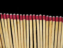 Matches Isolated on Black Royalty Free Stock Photography