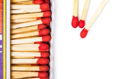 Matches isolated Stock Photo