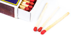 Matches isolated Stock Image