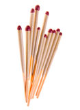 Matches isolated on white Stock Photos