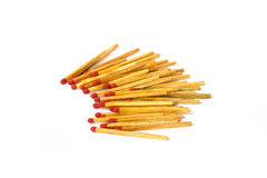 Matches on white background. Matches isolated in white background Stock Photography