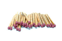Matches isolated on white Stock Photography