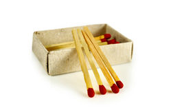 Matches isolated on white background Royalty Free Stock Images
