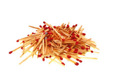 Matches isolated on white background. Closeup shot. Royalty Free Stock Photos