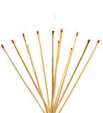Matches isolated on a white background Royalty Free Stock Image